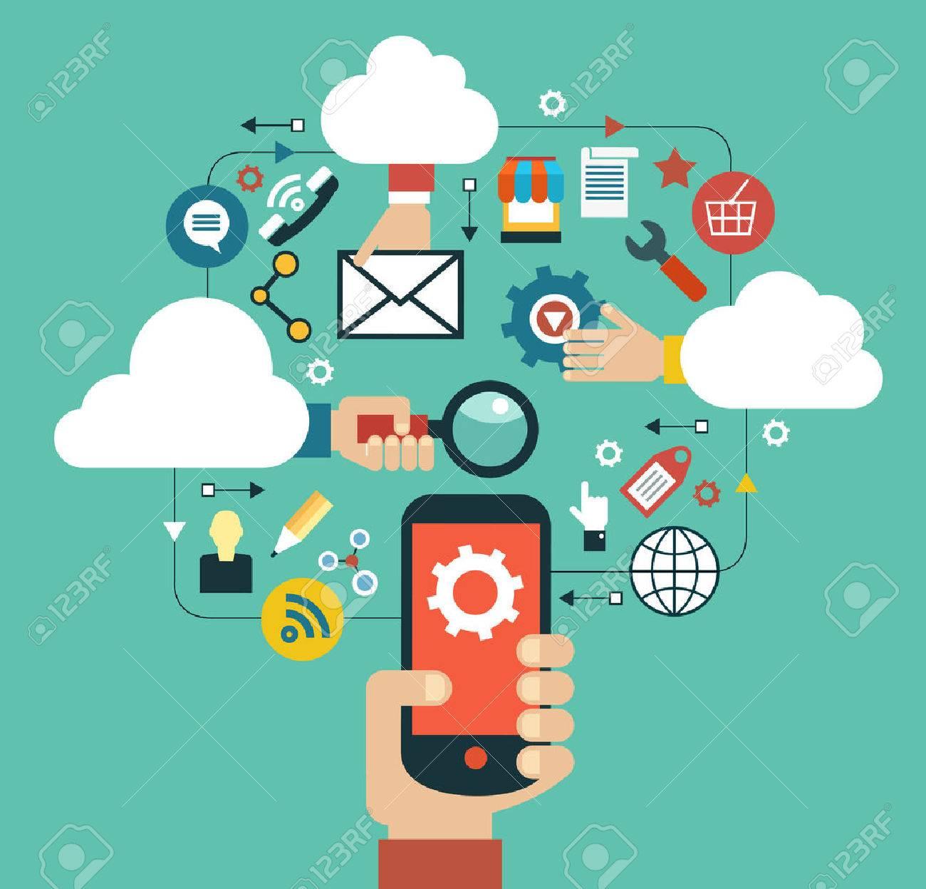 Cloud computing concept - 59138548