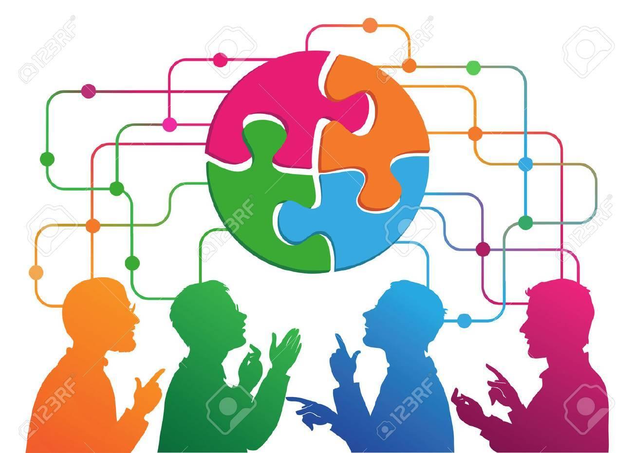 Social Media Circles, Network Illustration, Vector. Standard-Bild - 59138578