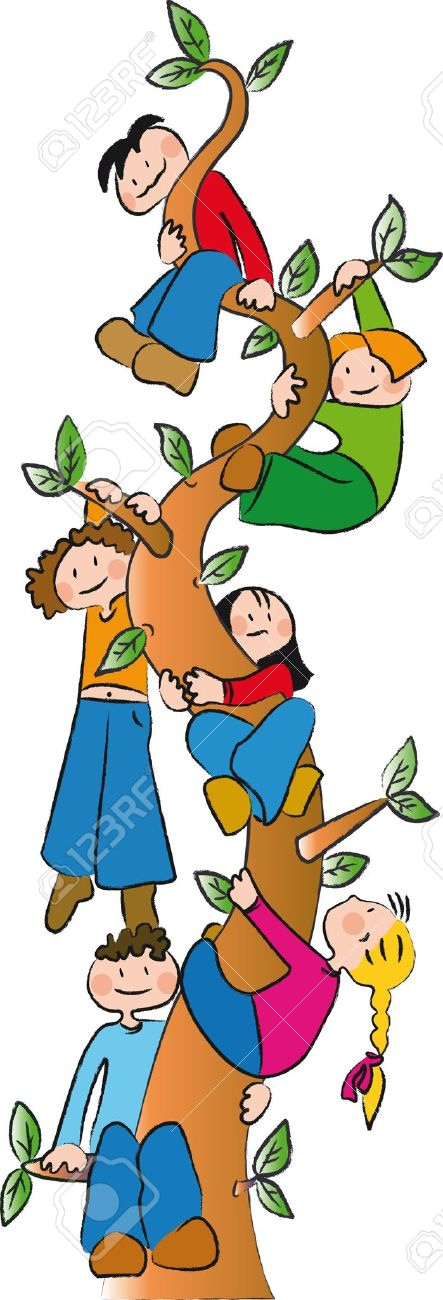 Six Children Climb Up A Tree Royalty Free Cliparts Vectors And Stock Illustration Image 12184627 The tunnel comes with two pieces and is the perfect play environment for helping them develop their gross motor. six children climb up a tree