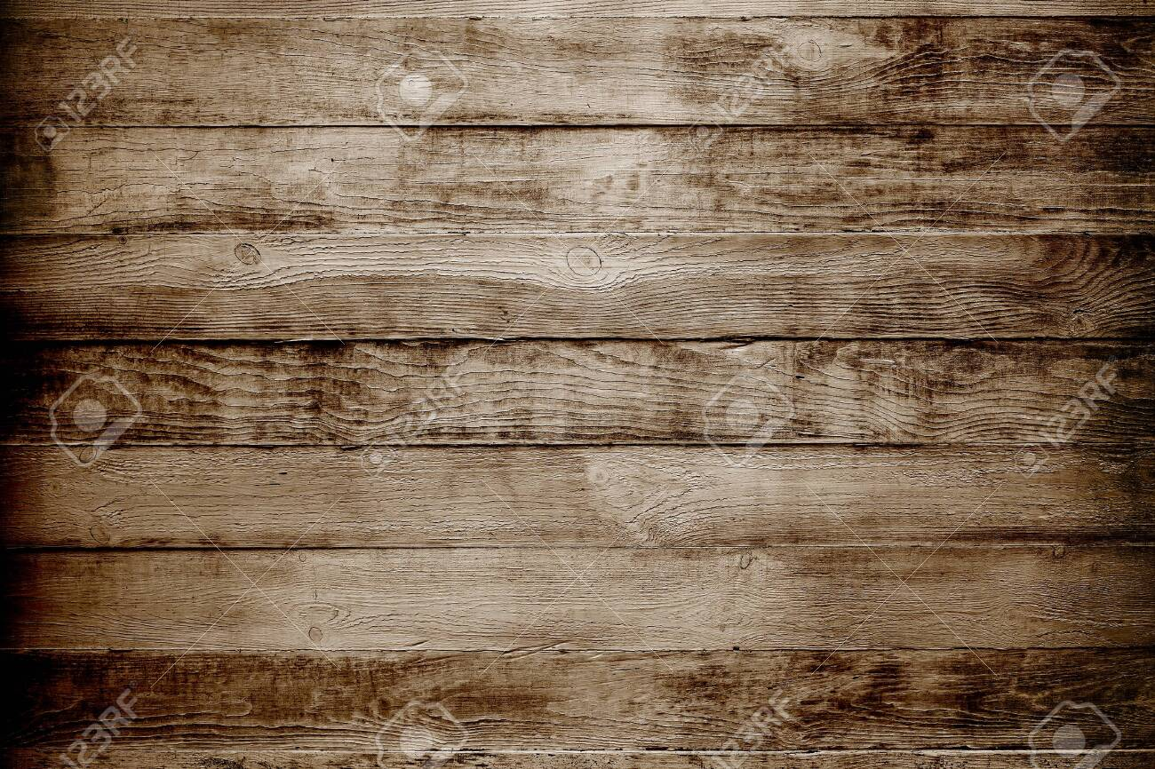 Natural wooden texture background. Brown planks - 146715151