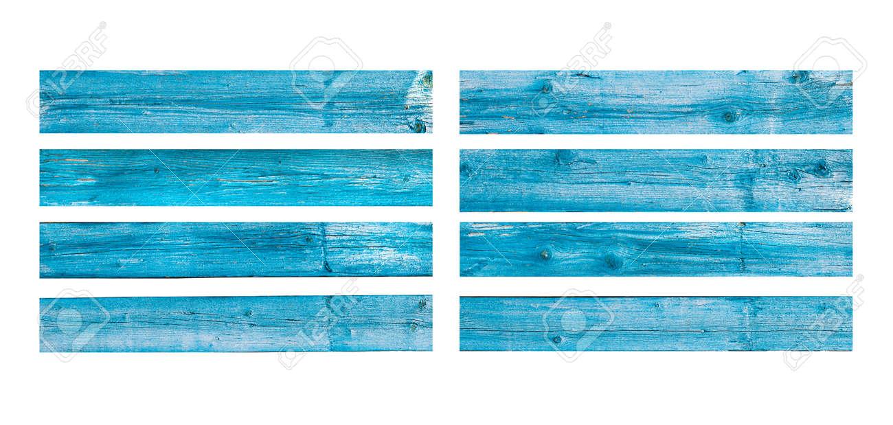 Wooden planks texture on white - 164231284