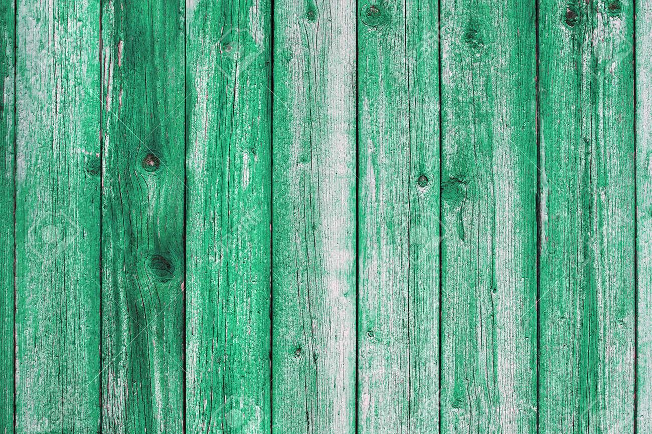 Wooden blue painted board. Vintage beach wood backdrop. - 163800841