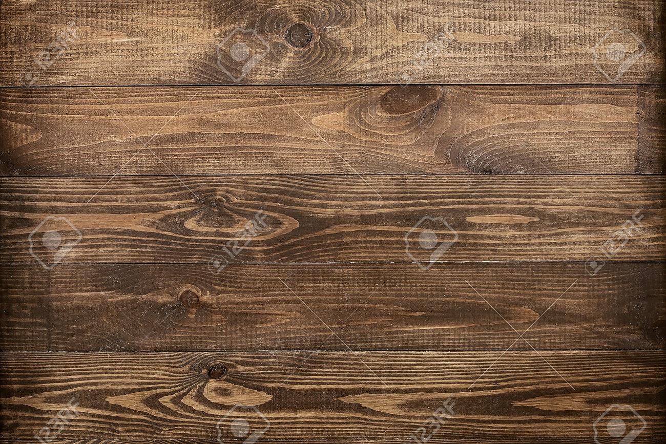 Brown wood texture. Dark wooden planks. - 164006404