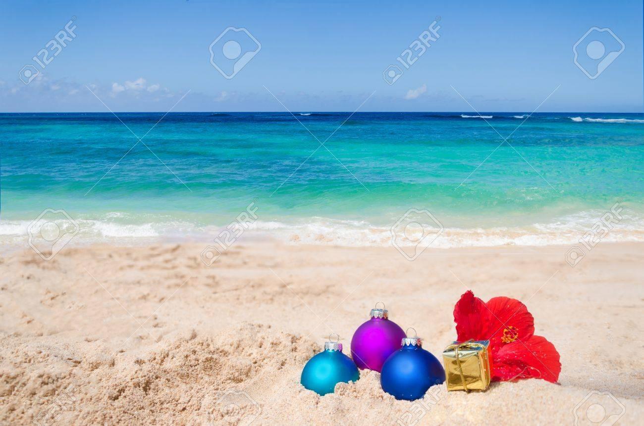 Frohe Weihnachten Hawaii.Stock Photo