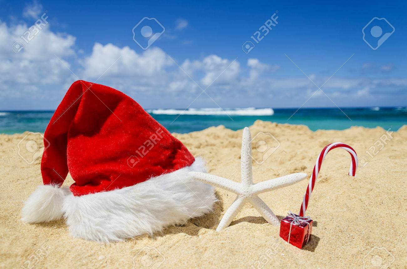Merry Christmas And Happy New Year Background With Santa Claus ...