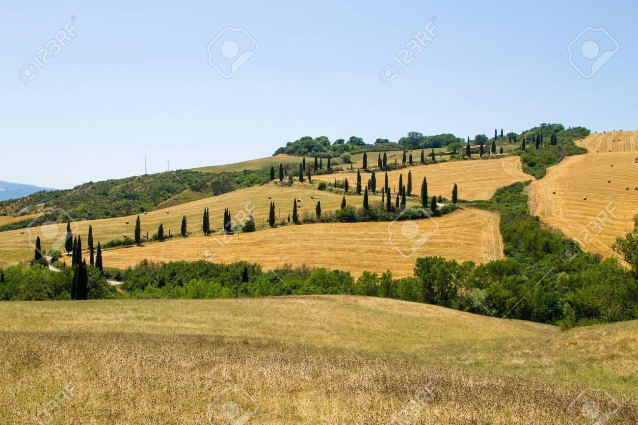 Tuscany Hills View Italy Italian Landscape Toscana Stock Photo