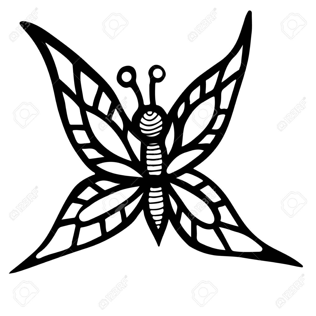 Famoso Páginas Para Colorear De Una Mariposa Cresta - Dibujos Para ...