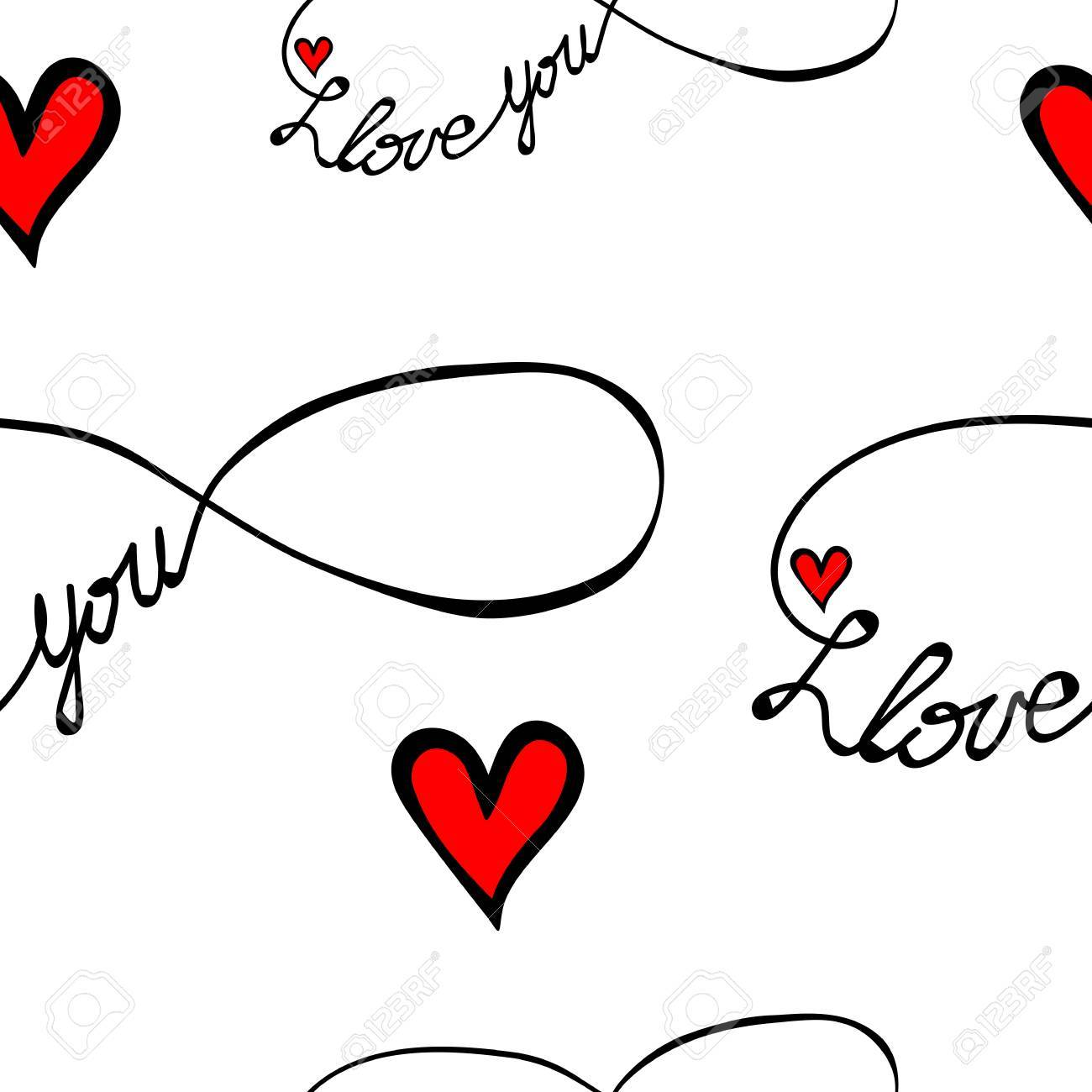 Seamless pattern with i love you text in infinity form isolated seamless pattern with i love you text in infinity form isolated on the white background buycottarizona