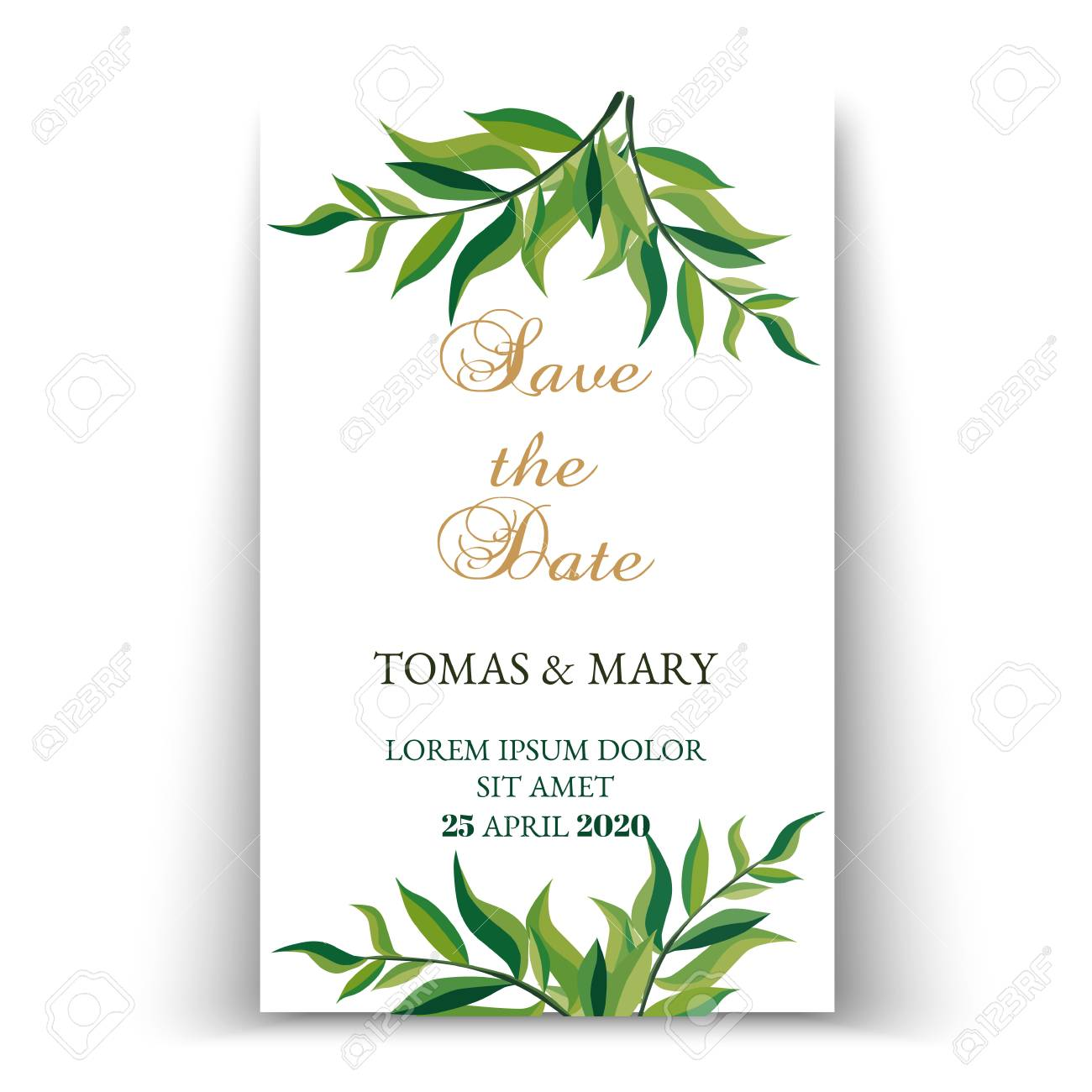 photograph regarding Printable Dates named Greenery help you save the day invitation playing cards. Botanical preserve the dates,..