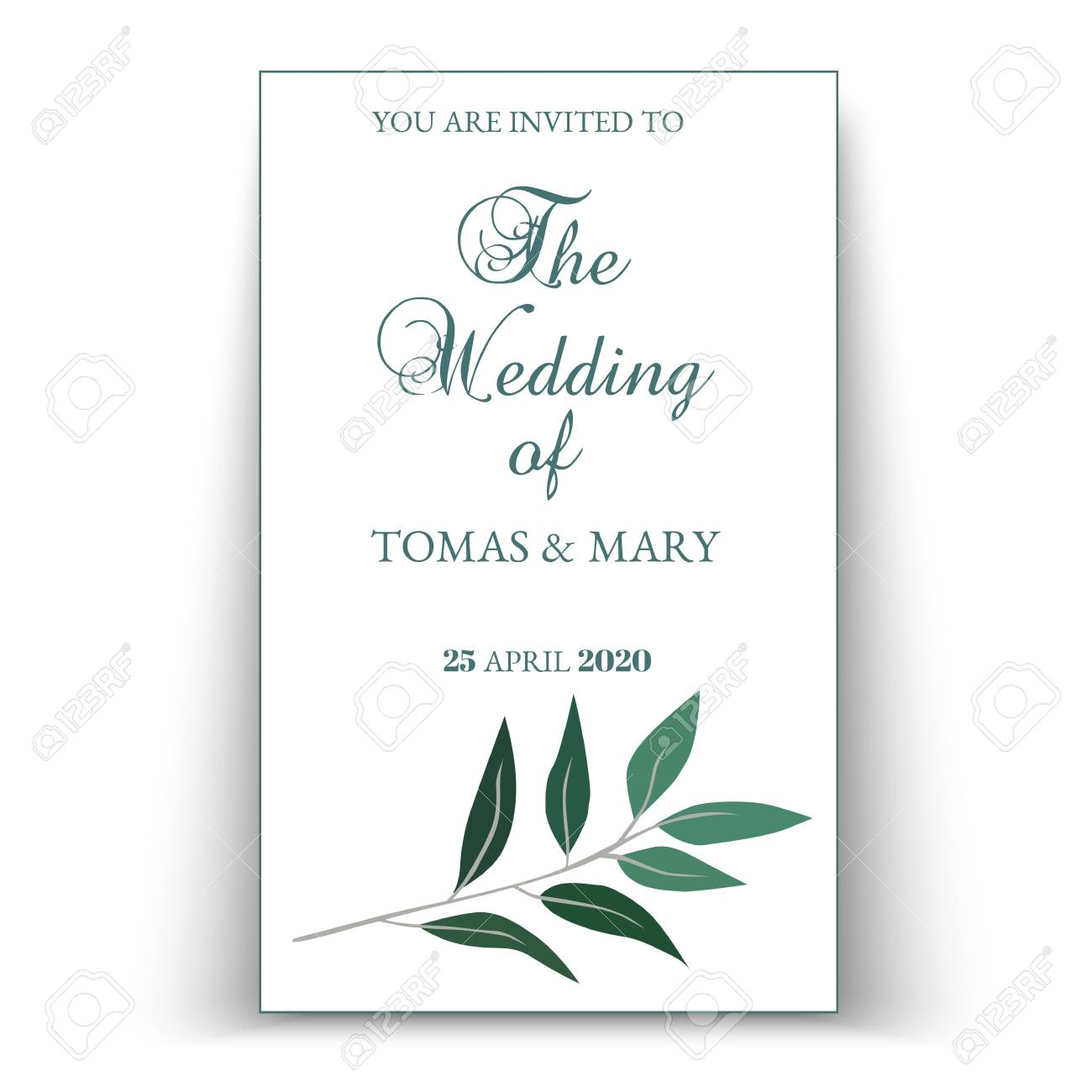 Greenery Wedding Invitation Template Printable Wedding Invites