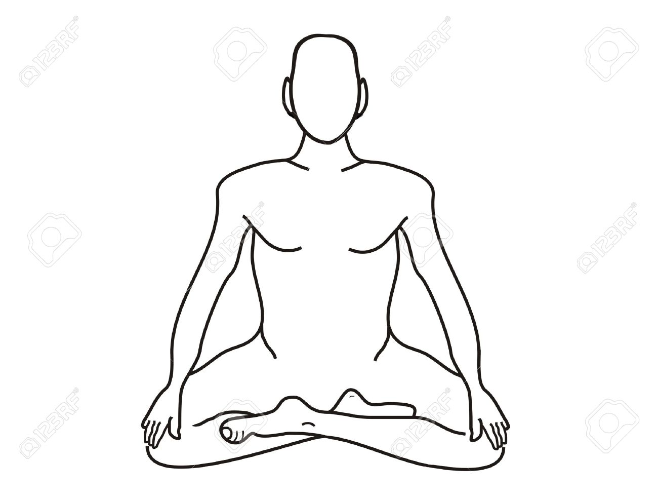 Meditation, the concept for your text and add items, drawing from his hand, white isolated Stock Photo - 4502994