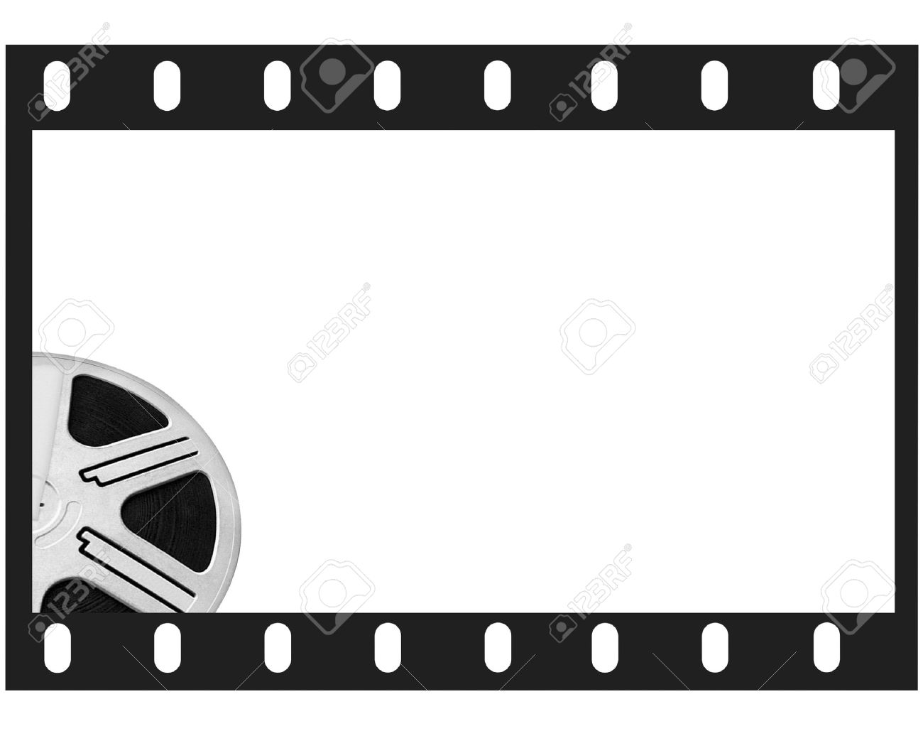 Film frame and round reel film white isolated place for photo film frame and round reel film white isolated place for photo and text stock photo jeuxipadfo Image collections