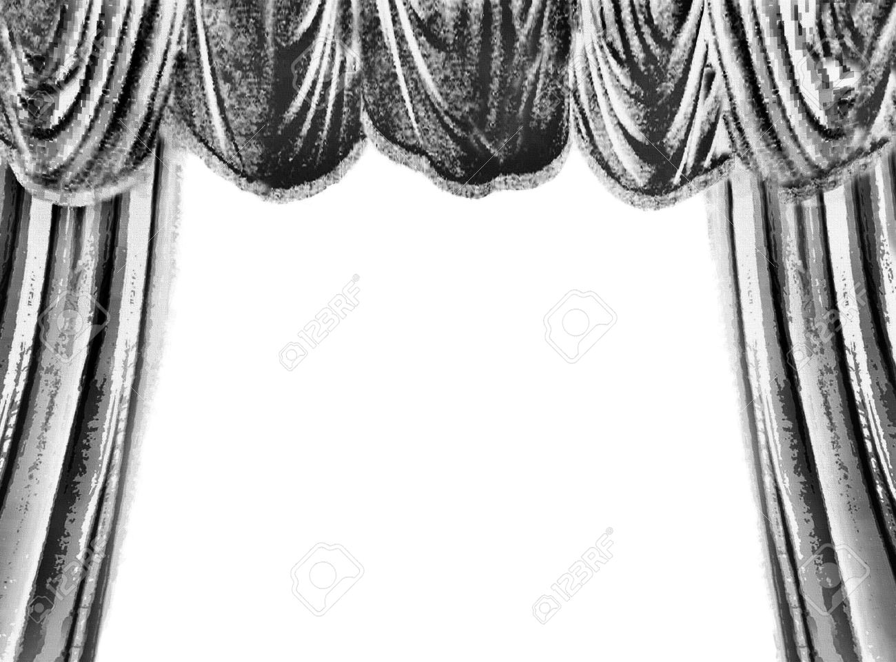 Black and white stage curtain - Stage Curtain Black And White Clipart Clipart Worldartsme