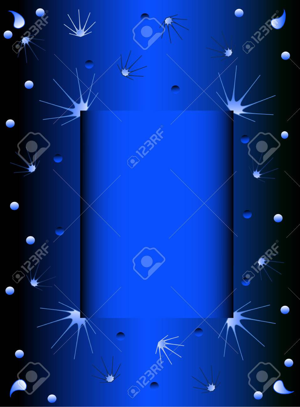 Creative Blue Background, with frame place for your text, vector Stock Vector - 6381969