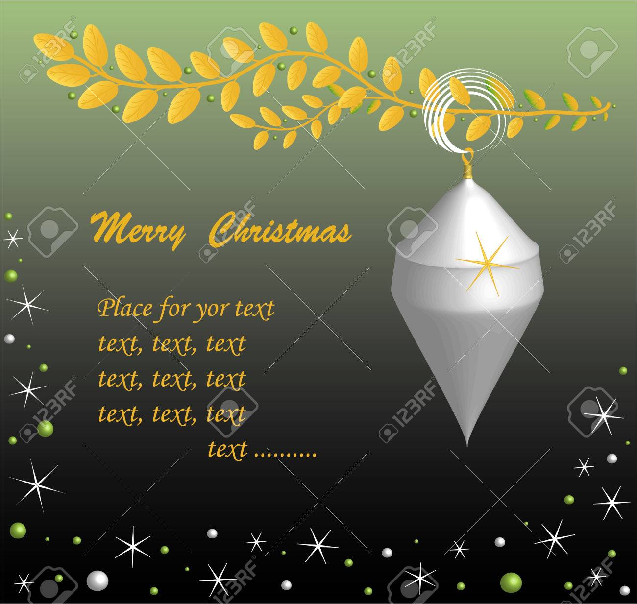 Christmas Card Sample Text Vector Royalty Free Cliparts Vectors – Sample of Christmas Greetings