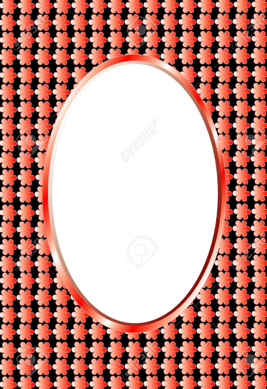 Photo frame,oval photo frame or text, variable verticals and horizontals Stock Vector - 8638179