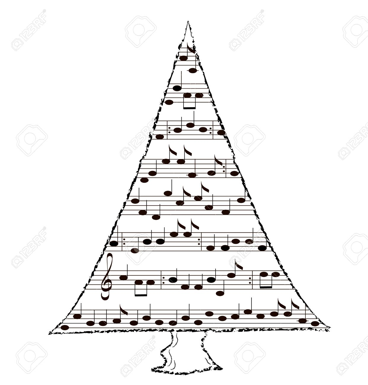 Christmas Tree With Music By Carol Stock Photo, Picture And ...