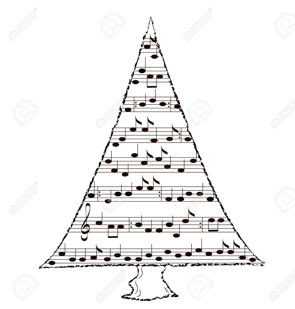 Christmas Carol Music.Christmas Tree With Music By Carol