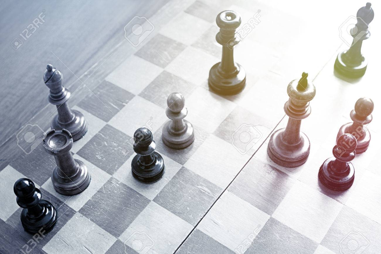 Old wooden chess - 42548441