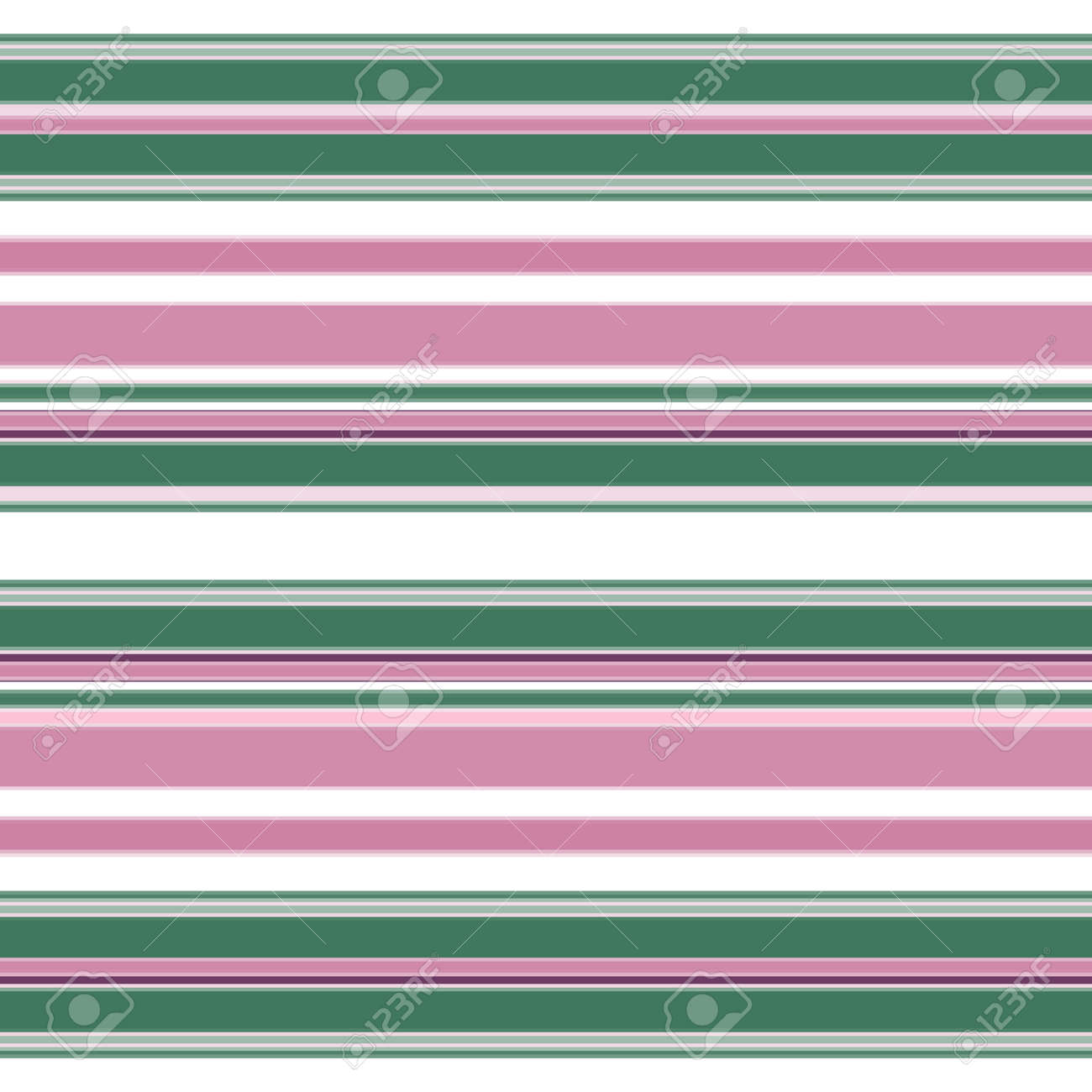 Simple striped seamless pattern. A horizontal strip of purple, green and white. Great for decorating fabrics, textiles, gift wrapping, printed matter, interiors, advertising. - 171746566