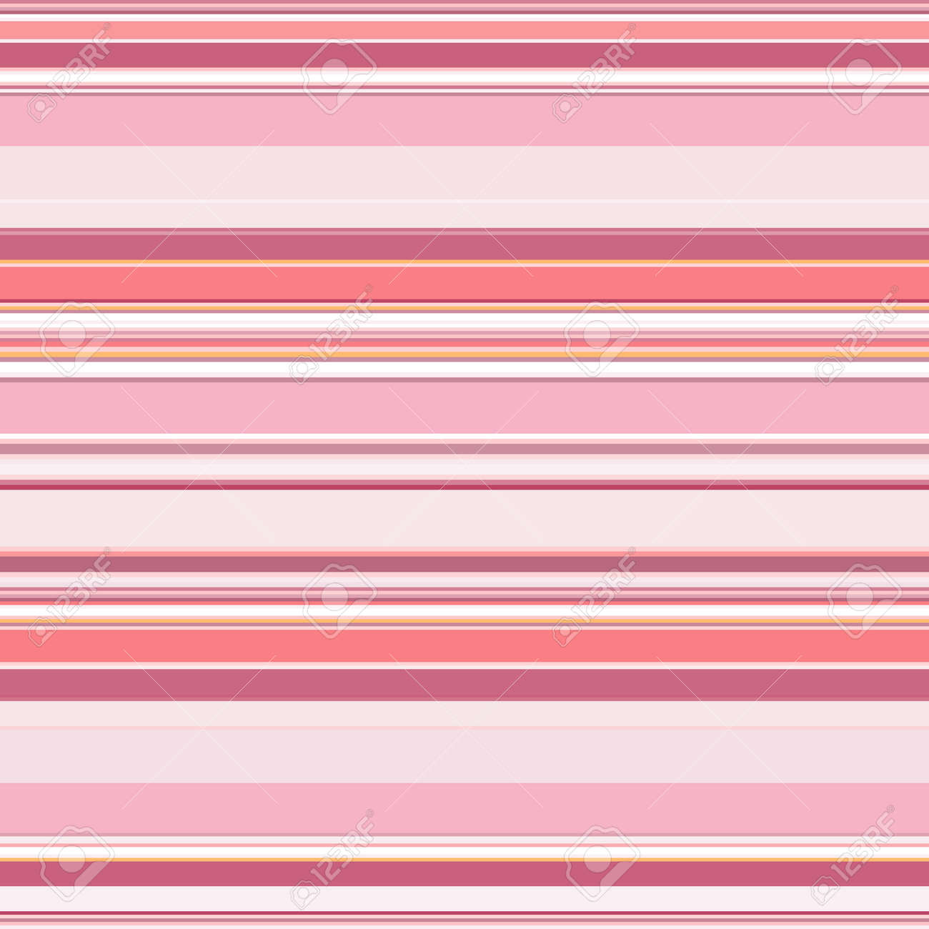 Striped seamless pattern. Horizontal lines and stripes. Vector geometric print in pink colors. Great for decorating fabrics, textiles, gift wrapping, printed matter, interiors, advertising. - 172076037