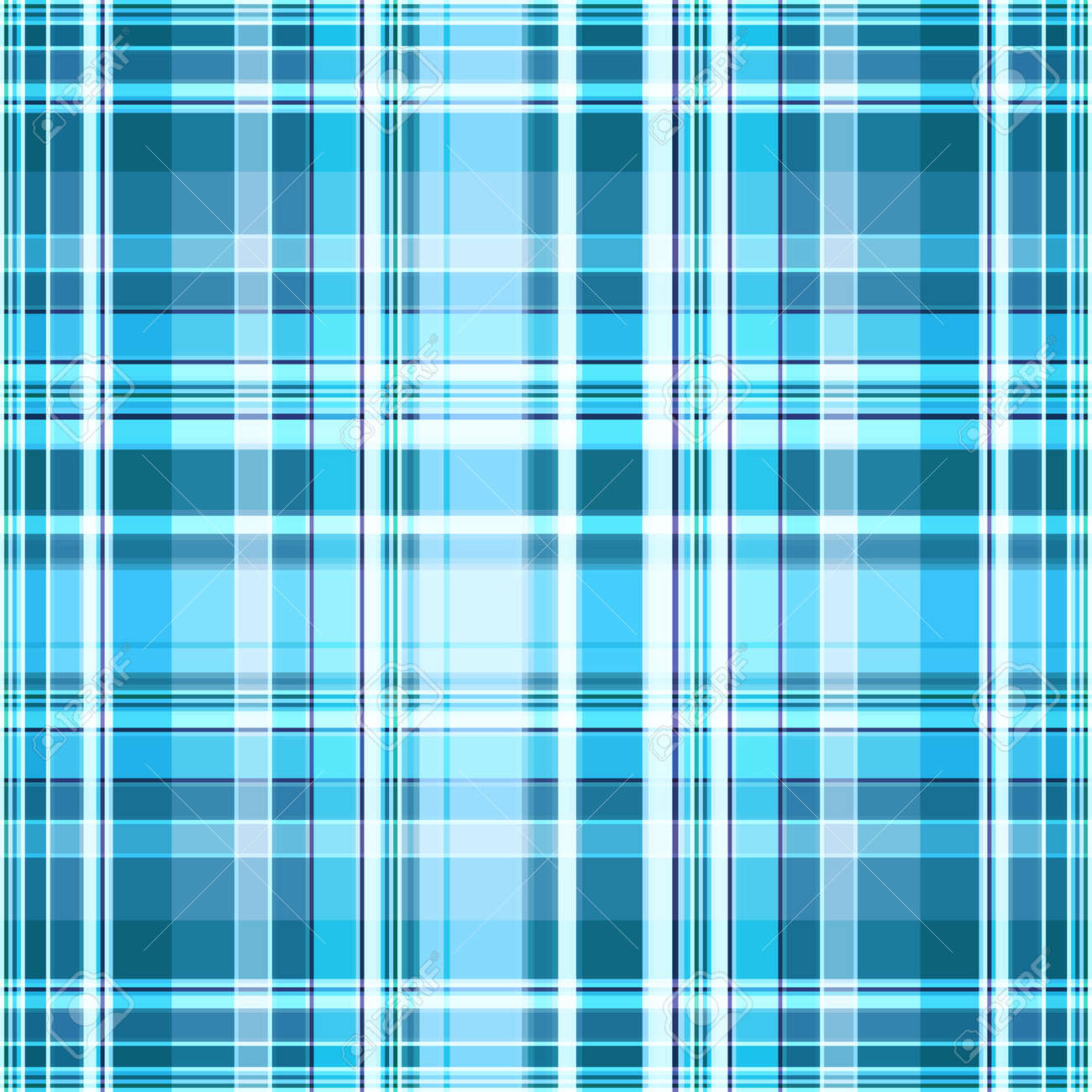 Plaid pattern in blue and white. Seamless monochrome checkered print, geometric abstract background. Great for decorating fabrics, textiles, gift wrapping, printed matter, interiors, advertising. - 172881878