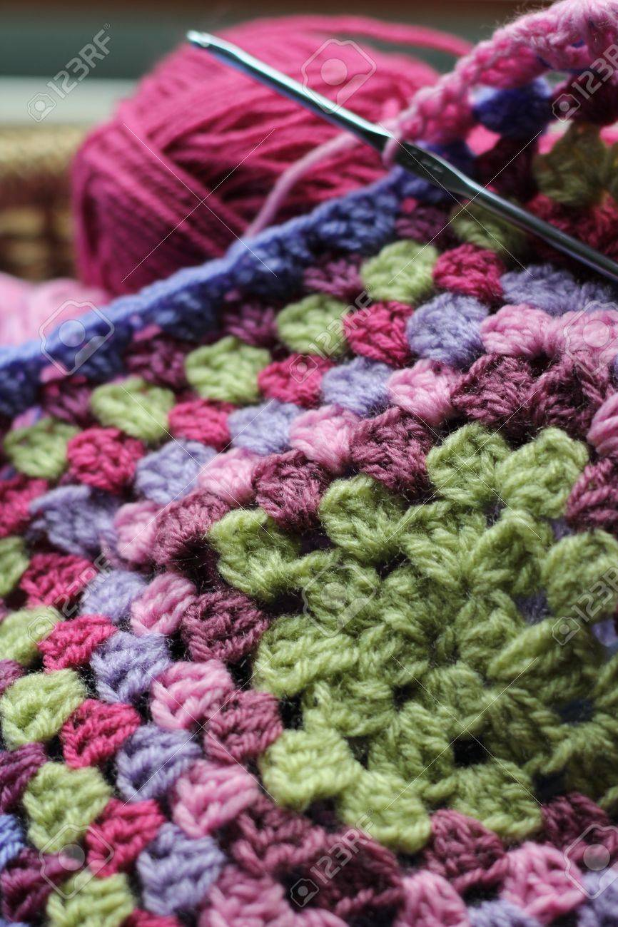 Vintage Feel Crochet The Making Of An Afghan Blanket With Wool