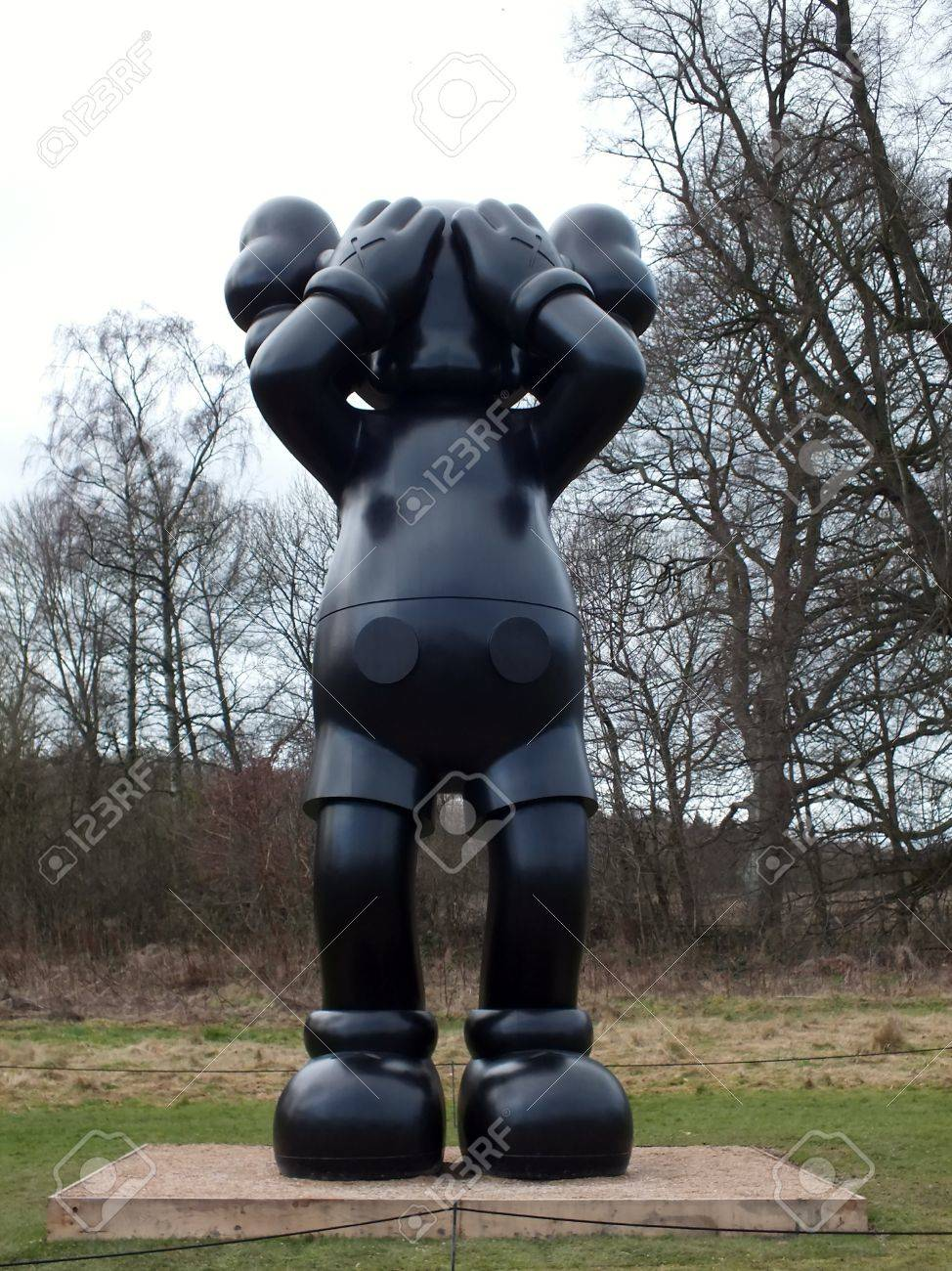 4d5fd6d4 Stock Photo - The first UK exhibition of the American artist KAWS at  Yorkshire Sculpture Park, Wakefield, monumental , cartoon inspired popular  culture