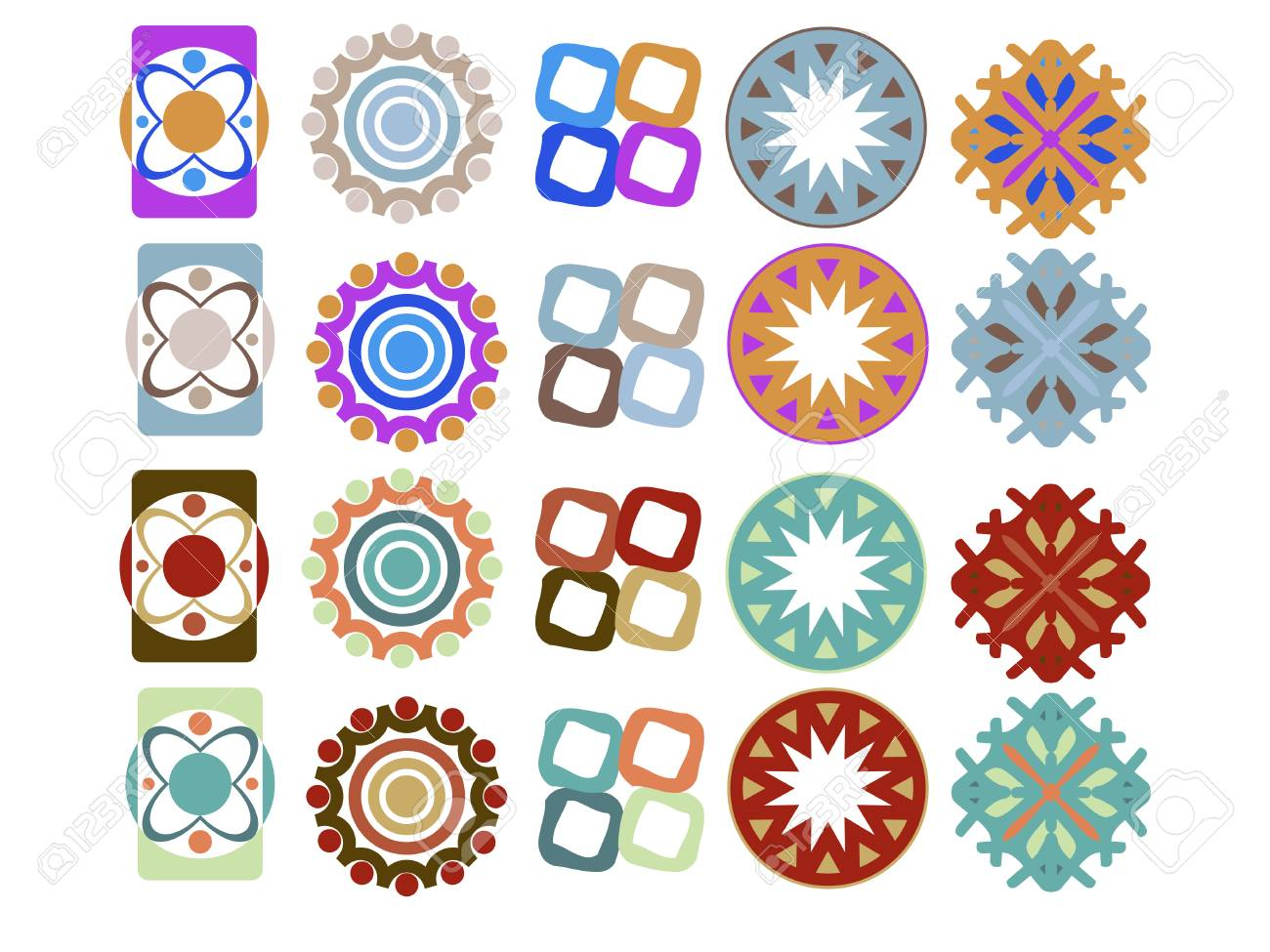 Set of design elements in different variations Stock Vector - 6110914