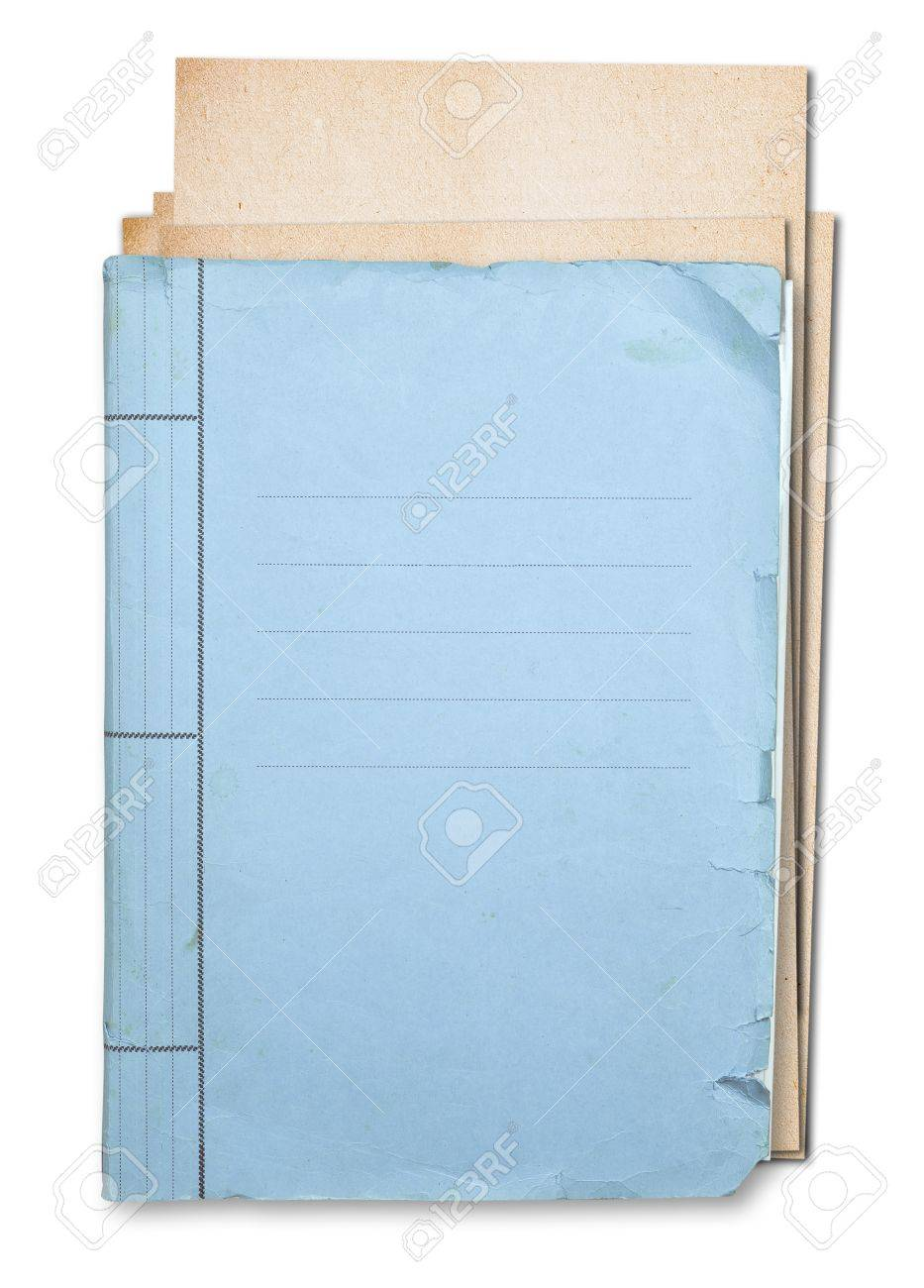 Old folder isolated on white background clipping path. Stock Photo - 17592470