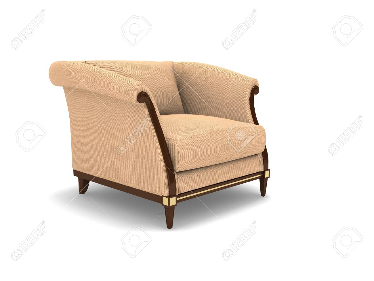 Wondrous Single Cloth 3D Sofa On White Background Pabps2019 Chair Design Images Pabps2019Com