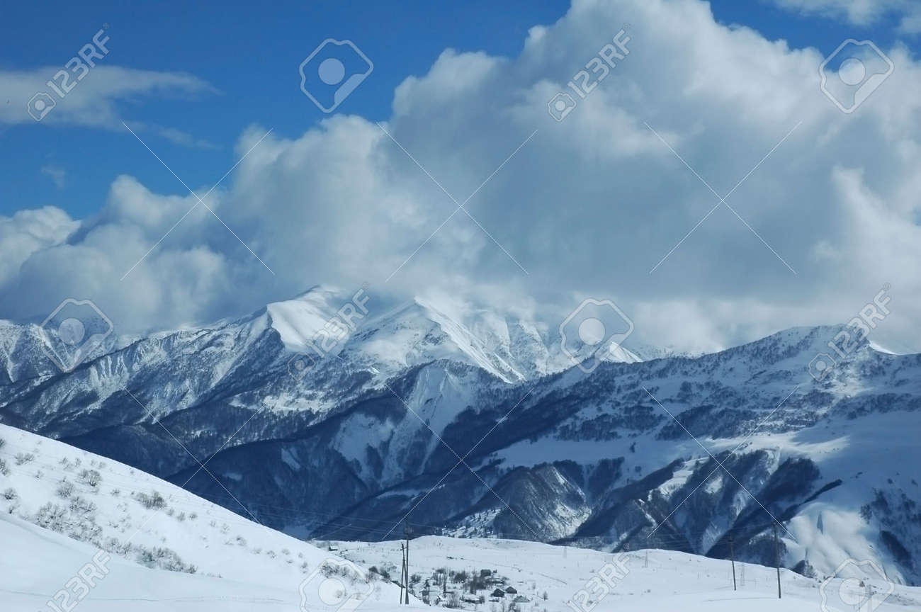 Mountains in winter Stock Photo - 541750