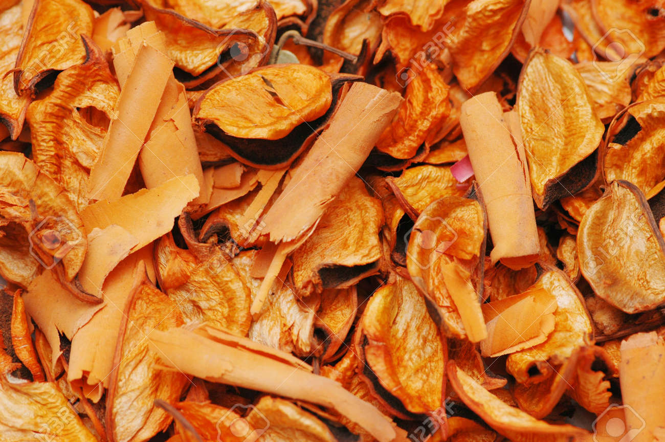 Dry orange leaves - can be used as background Stock Photo - 778871