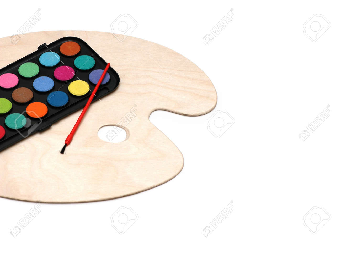 Painter's palette isolated on the white background Stock Photo - 3118335