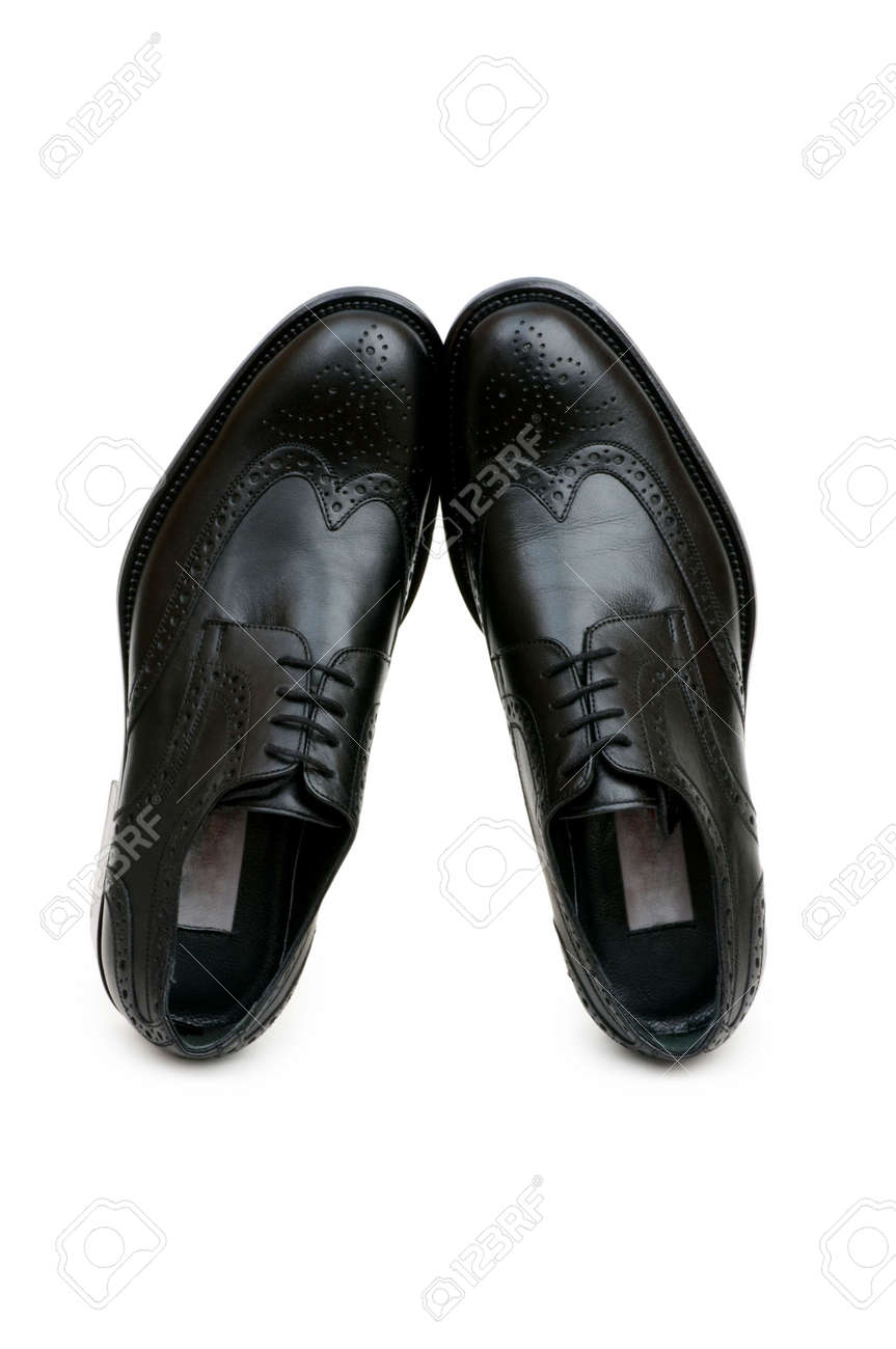 Black shoes isolated on the white background Stock Photo - 3927997