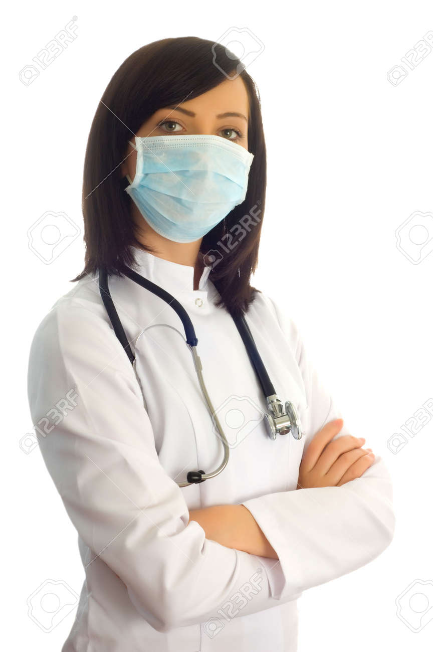 Female doctor isolated on the white background Stock Photo - 4159149