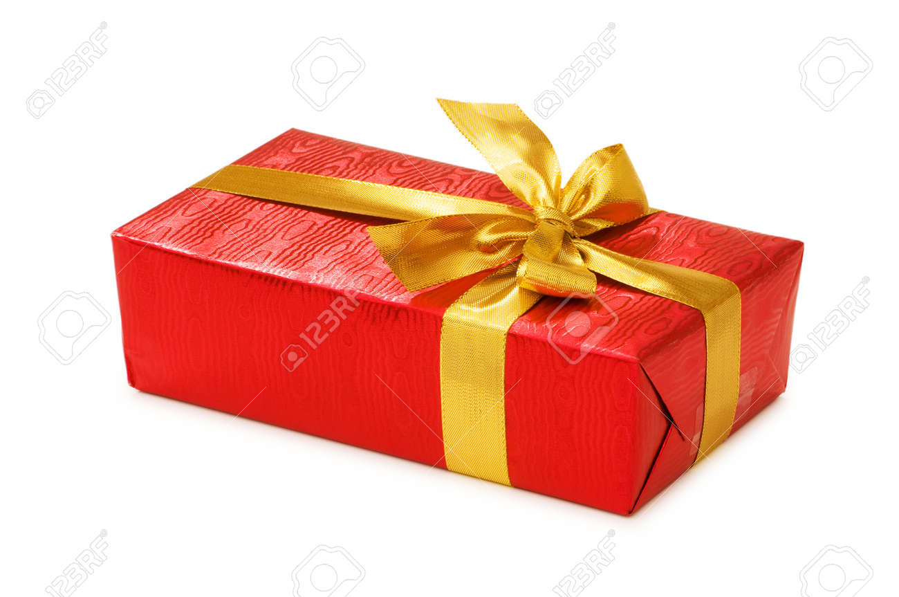 Gift boxes isolated on the white background Stock Photo - 4519692