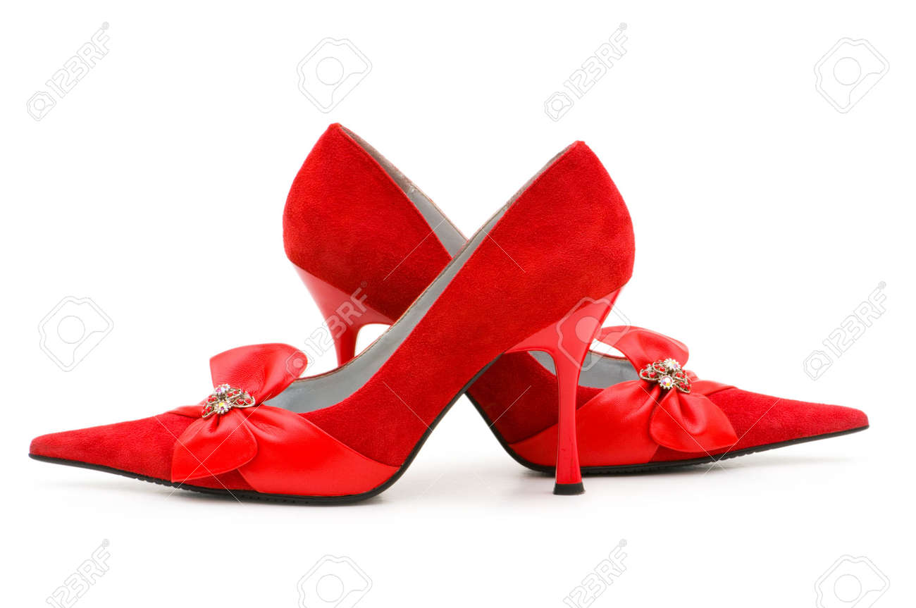 Woman shoes isolated on the white background Stock Photo - 4622516