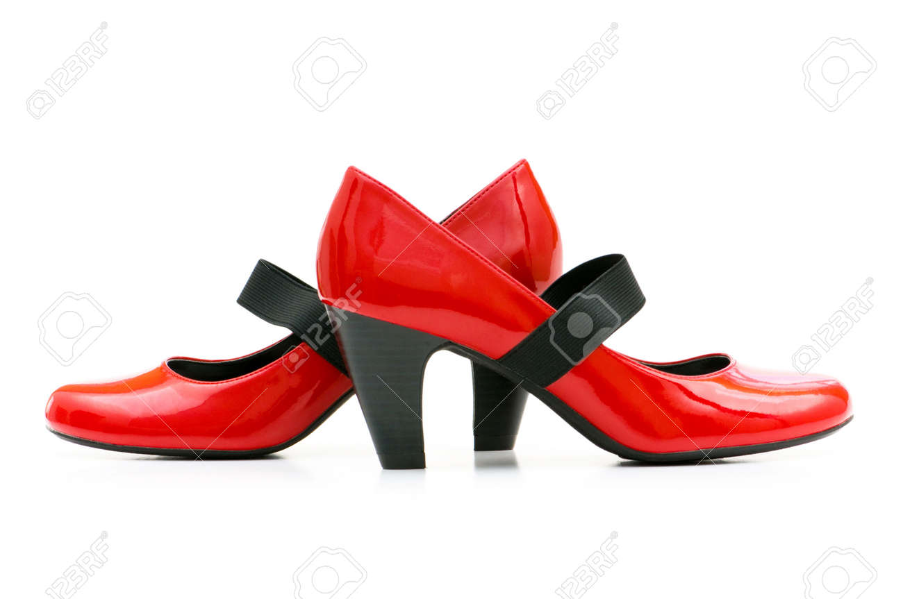 Woman shoes isolated on the white background Stock Photo - 4654875