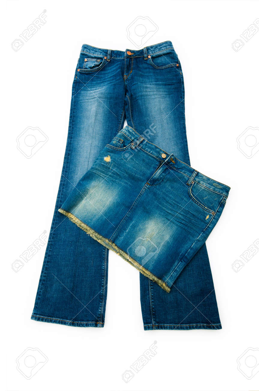Pair of jeans isolated on the white background Stock Photo - 5144335