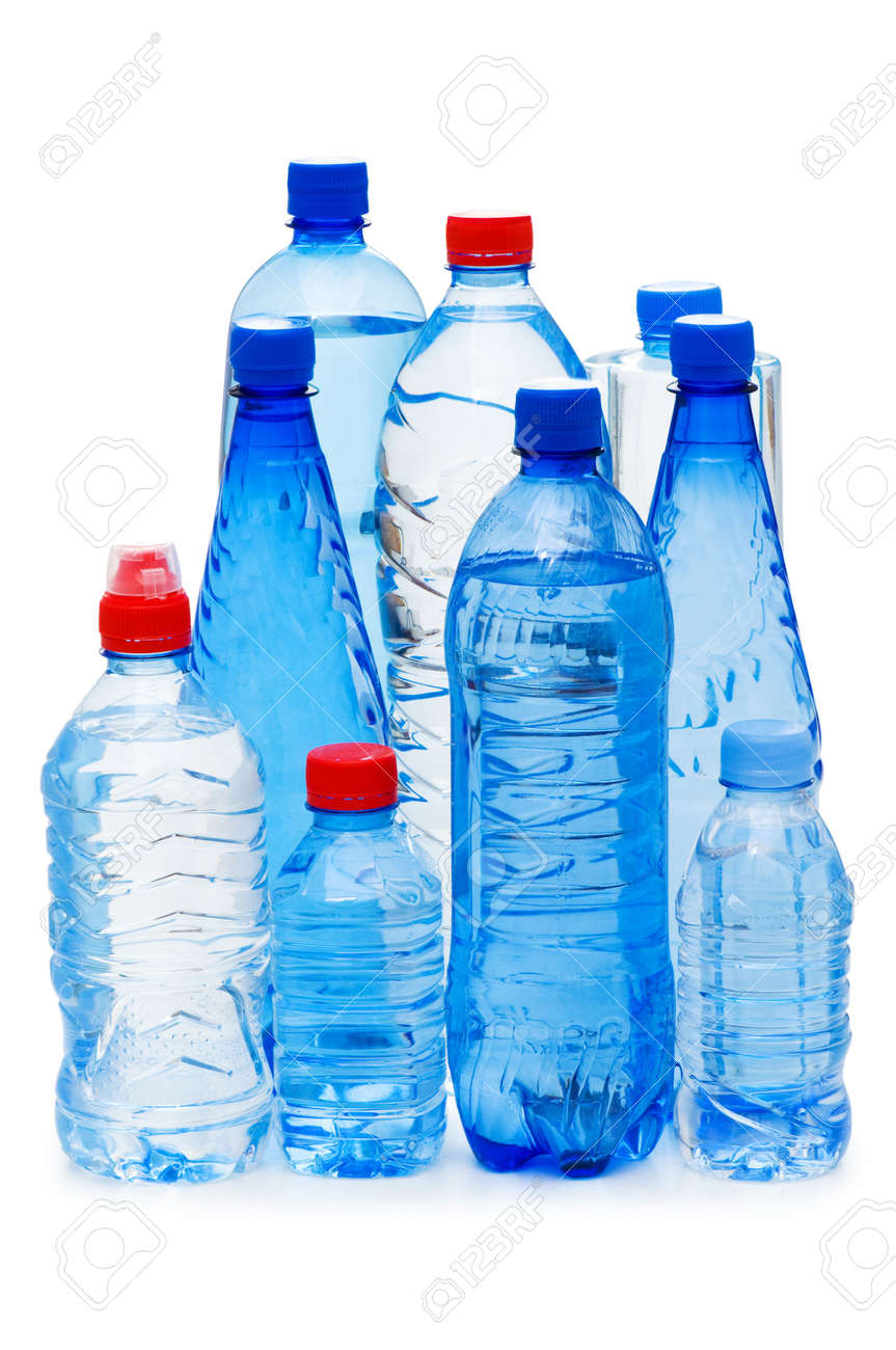 Bottles of water isolated on the white Stock Photo - 5282530