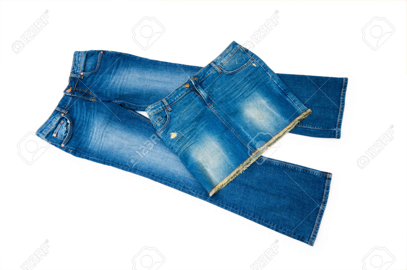 Pair of jeans isolated on the white background Stock Photo - 5349024