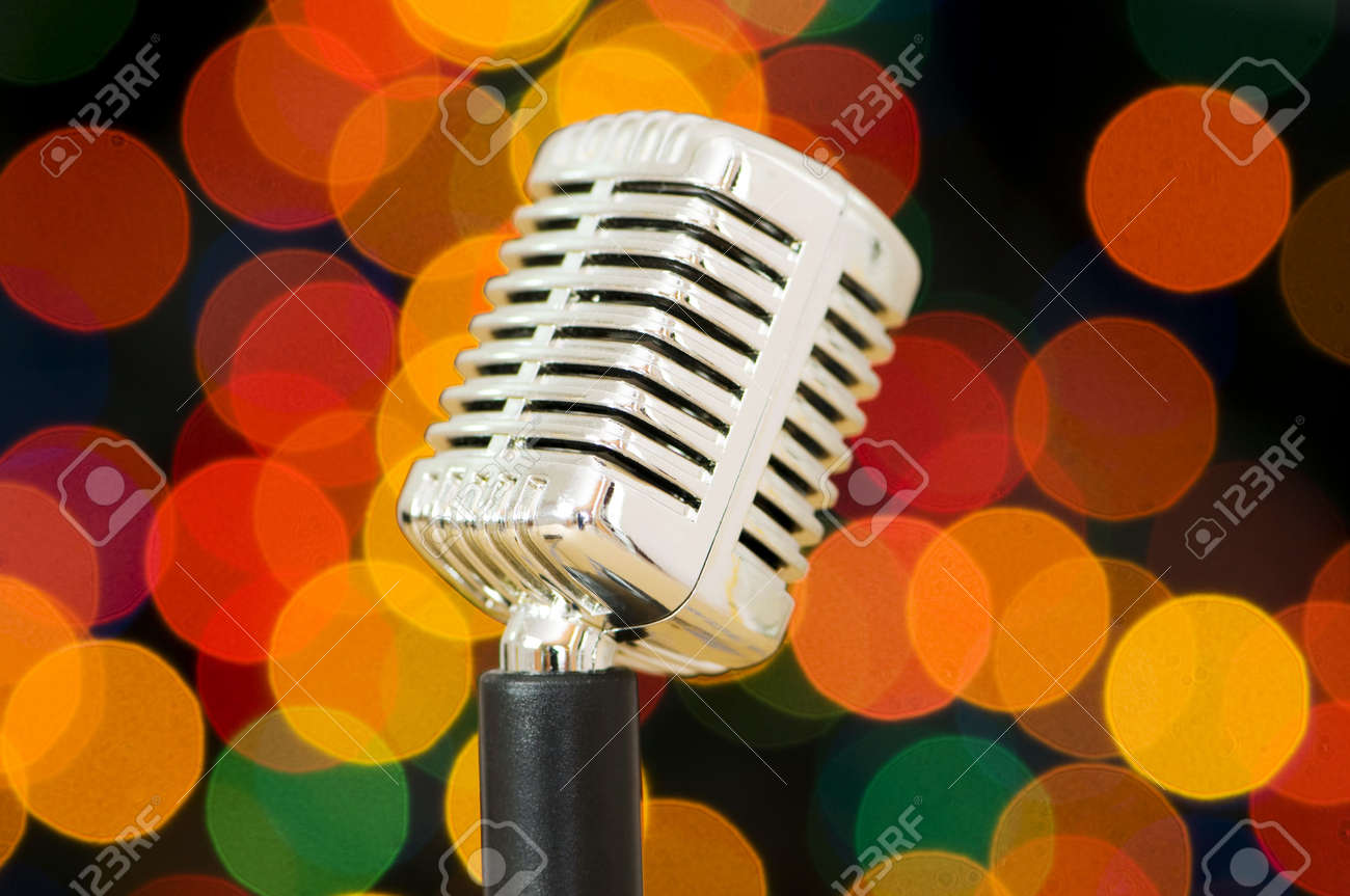 Vintage microphone isolated on the white background Stock Photo - 5718557