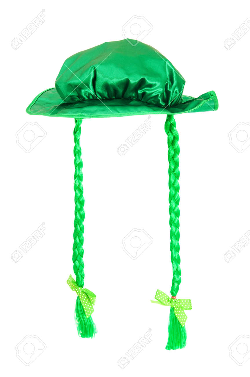 St Patrick day concept with green hat on white Stock Photo - 6581433