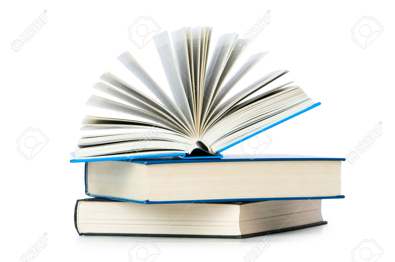 Stack of books isolated on the white Stock Photo - 6622859