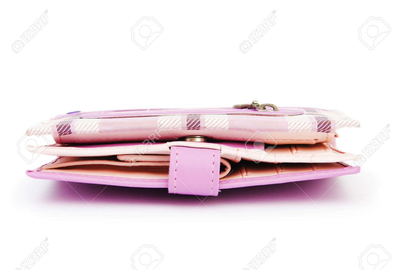 Wallet isolated on the white background Stock Photo - 6850717
