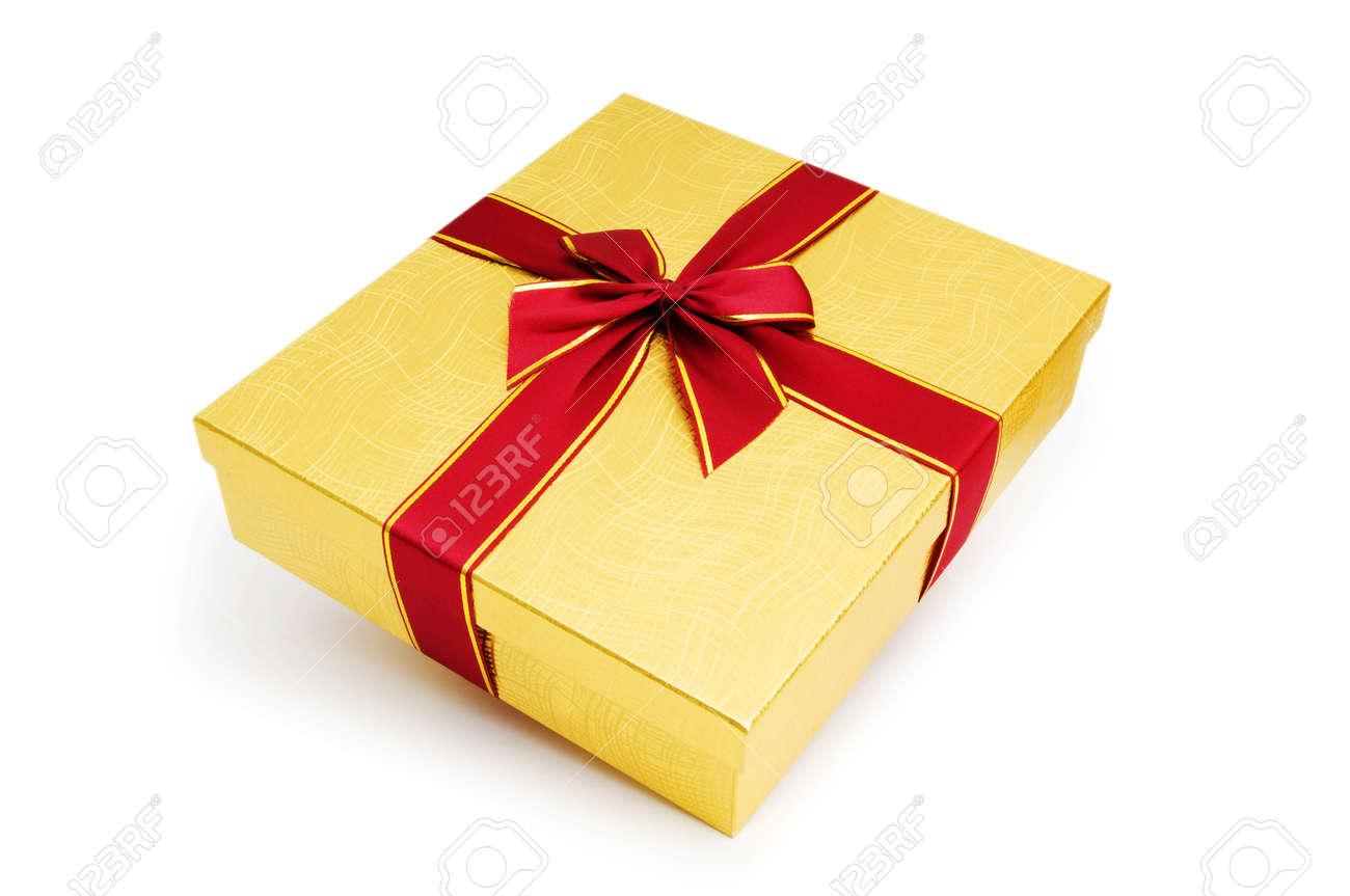 Gift box isolated on the white background Stock Photo - 7084518