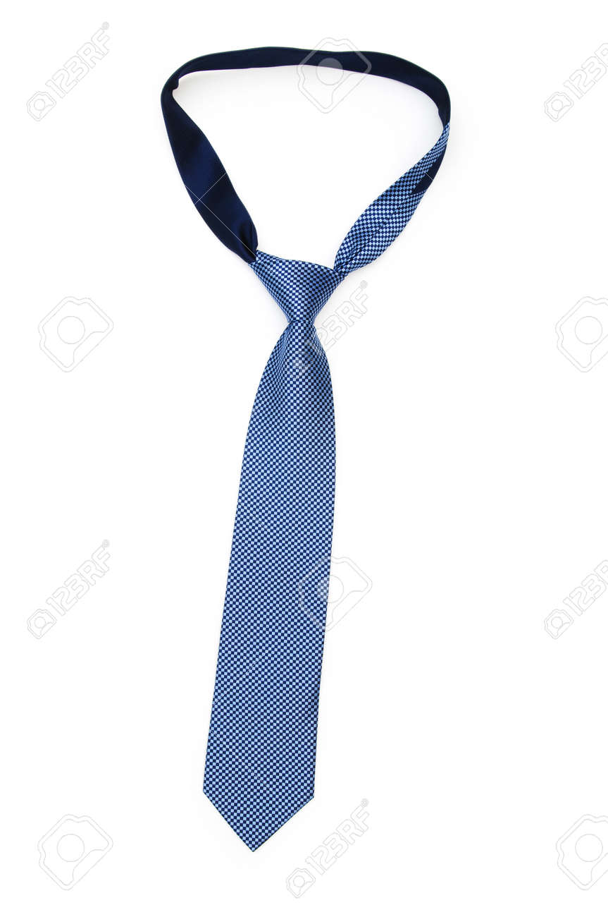 Silk tie isolated on the white background Stock Photo - 7084487