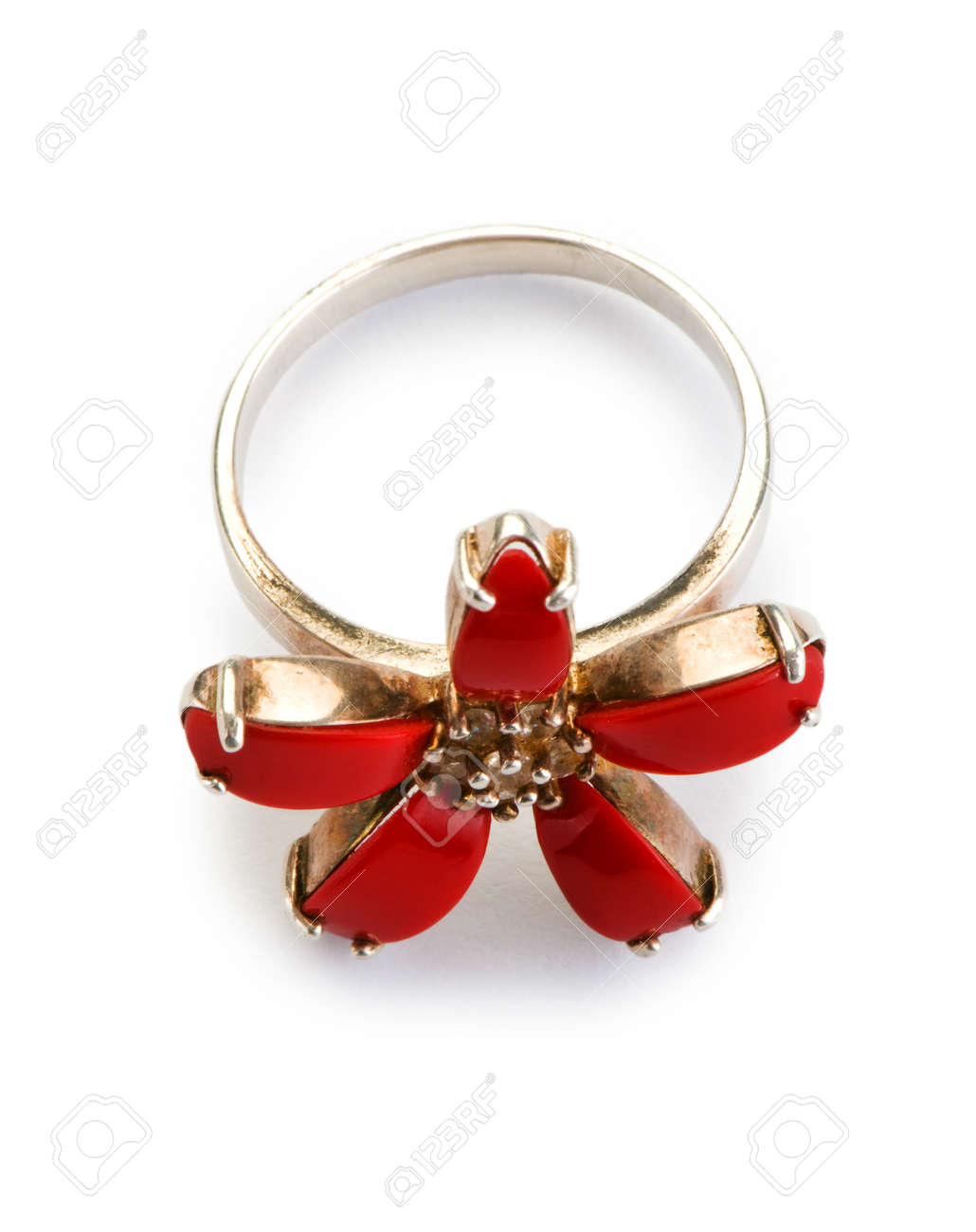 Jewellery ring isolated on the white background Stock Photo - 7188871