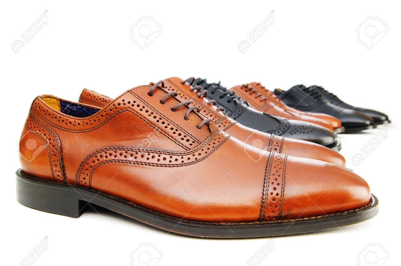Male shoes isolated on the white background Stock Photo - 7192342